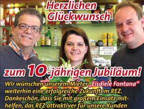 Eisdiele Fontana feiert 10-jähriges Jubiläum!