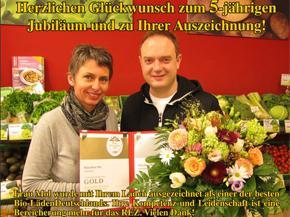 Naturkost Mol - alles Gute zu'm 5-jährigen Jubiläum und zur Auszeichnung für einen der besten Bioläden Deutschlands!
