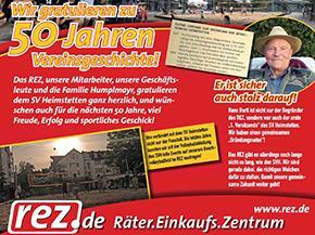 50 Jahre SV Heimstetten! Das REZ-Team und Familie Humplmayr gratulieren herzlich!