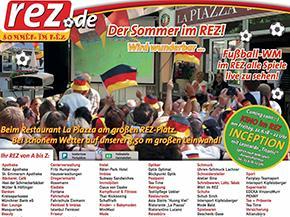 Der Sommer im REZ wird wunderbar!<br>Fussball WM, Beachvolleyballfeld &<br>Open Air Kino in ihrem REZ Heimstetten!