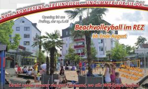 1. Open-Air Kino im REZ &<br>Beachvolleyball-Opening!