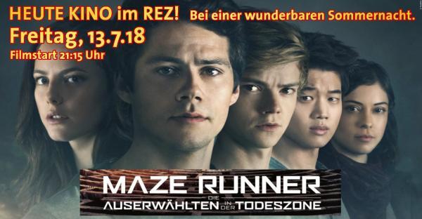Open Air Kino im REZ am Freitag, 13.7.18 - MAZE Runner 3