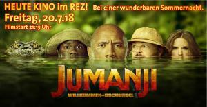 Open Air Kino im REZ - Freitag 20.7.18 - JUMANJI