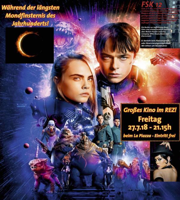 Open Air Kino im REZ - Freitag 27.7.18 - VALERIAN, Stadt der 1000 Planeten