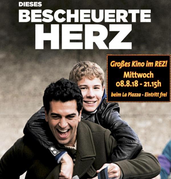 Open Air Kino im REZ - Mittwoch 8.8.18 - Dieses bescheuerte Herz
