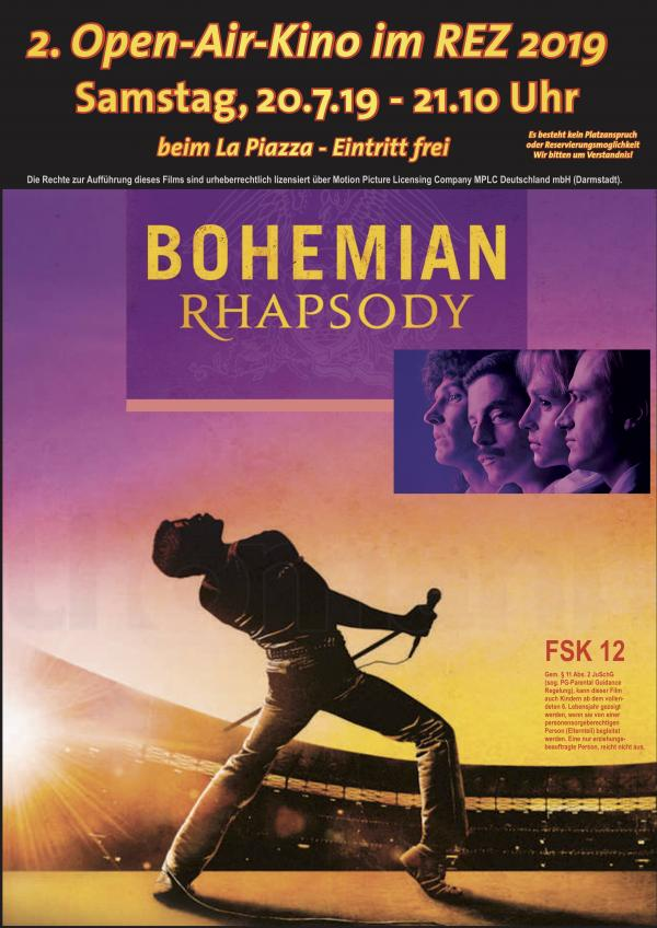 2. Open-Air-Kino im REZ - Bohemian Rhapsody, am Sa. 20.7.19