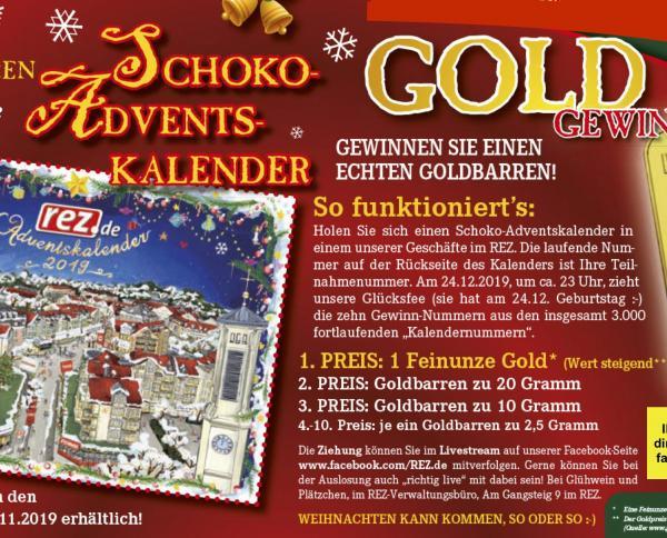 REZ-Adventskalender - GOLD-Gewinnspiel